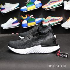 reputable site 8d8e1 72196 Nike Epic React Flyknit Aq0067 001 Black White Purchase Shoe