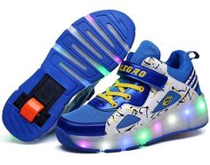 2491bee9533 Led Glowing Luminous Sneakers Light Up Led Shoes With Wheel Casual Shoes  Tenis Patin Led Ruedas