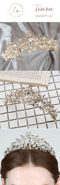 bridal head jewelry diamond hair piece crown headpiece