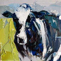 "Daily Paintworks - ""Notorious RBG"" - Original Fine Art for Sale - © Dan Becker Cow Art, Fine Art Auctions, Fine Art Gallery, Art Tutorials, Art For Sale, Dan, Artist, Painting"