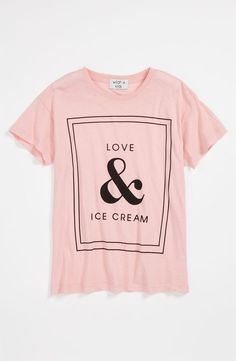 Wildfox 'Love & Ice Cream' Tee (Big Girls)