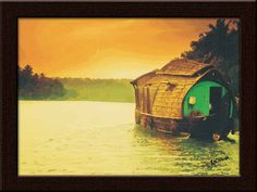 Get the serenity of Kerala's beautiful lakes and landscapes in your homes, with this 'Kerala Houseboat' painting!     http://www.gloob.in/painting/kerla-house-boat.html