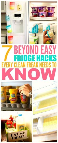 These 7 fridge hacks from the experts are THE BEST! I'm so happy I found these AWESOME TIPS! Now I'll have less messes to clean! I'm SO pinning for later!