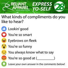 Express Yo-Self #28 Compliments