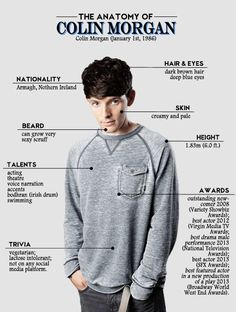 Colin Morgan I didn't know he's vegetarian!