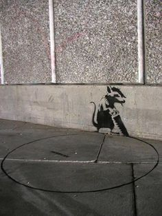 Banksy Graffiti - Is It Art Or a Vandalism ? Many were asking about the Banksy graffiti , whether it is an art or vandalism. Street Art Banksy, Banksy Graffiti, Arte Banksy, Banksy Rat, Graffiti Artwork, Bansky, Urban Street Art, Urban Art, Amazing Street Art