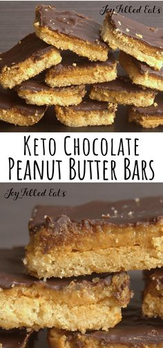 Tagalong Peanut Butter Cookie Bars - Low Carb Keto THM S Grain-Free Gluten-Free Sugar-Free. Tagalong Cookies simplified to just 6 ingredients & ready in an hour! These chocolate peanut butter cookie bars taste like your favorite Girl Scout treat! Keto Desserts, Keto Friendly Desserts, Keto Snacks, Dessert Recipes, Dessert Ideas, Dinner Recipes, Carb Free Desserts, Keto Desert Recipes, Sugar Free Deserts