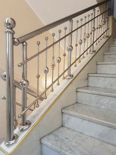 Steel Bed Design, Steel Railing Design, Staircase Railing Design, Modern Stair Railing, Modern Staircase, Balcony Grill Design, Balcony Railing Design, Window Grill Design, House Gate Design