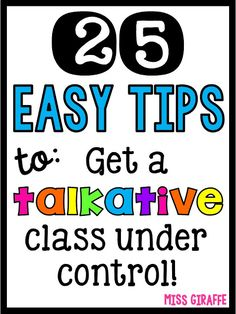 25 Chatty Class Classroom Management Strategies for Overly Talkative Students - Business Management - Ideas of Business Management - 25 Chatty Class Classroom Management Tips that are quick and easy to get an overly talkative class under control Classroom Discipline, Classroom Management Strategies, Behaviour Management, Teaching Strategies, Teaching Tips, Kindergarten Classroom Management, Management Quotes, Classroom Procedures, Classroom Consequences