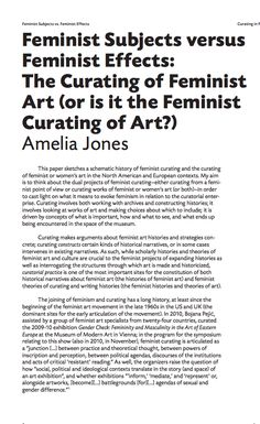 """As Amelia Jones observes here, curatorial labour is """"driven by concepts of what is important, how and what to see, and what ends up being encountered in the space of the museum"""". The work might then be considered – and critiqued – as the work of selection and exclusion; but one of the themes that emerges prominently in her essay is the importance of affirmation, attachment, and affiliation as modes by which feminist curators imagine their work. The Scene Aesthetic, Amelia Jones, Female Art, Museum, Culture, Space, Affiliate Marketing, Woman Art, Floor Space"""