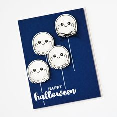Clearance Sale: was now Mini clear stamp set comprising 9 separate stamps. Halloween Cards, Happy Halloween, Kids Cards, Clearance Sale, Clear Stamps, Christmas Fun, Balloons, Mini, Birthday