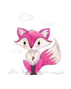 Pinky the Fox  PRINT by stephaniecorfee on Etsy, $20.00