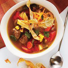 Tortilla Meatball Soup | MyRecipes.com