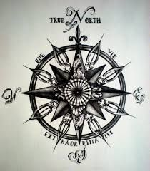 Image result for vintage compass tattoo