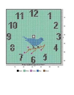 Blue bird clock