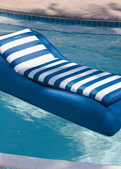 Inflatable Pool Lounger - looks like it would work in and out of the water?