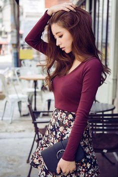 Nice floral skirt!