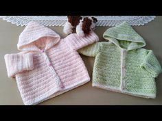 YouTube Baby Girl Patterns, Baby Knitting Patterns, Crochet Baby Sweaters, Crochet Baby Shoes, Crochet For Kids, Free Crochet, Sweater Hat, Knitting Videos, Baby Outfits
