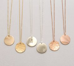 Hey, I found this really awesome Etsy listing at https://www.etsy.com/listing/249518219/personalized-gold-circle-necklace-silver