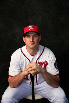 Washington Nationals Team Photos - ESPN. Ryan Zimmerman. I wonder if the fans like this guy.  Look at all of those pins. WOW!