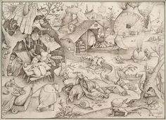 Pen And Ink Drawing - Sloth Pieter Bruegel Drawing by Pieter Bruegel The Elder, Renaissance Paintings, Poster Prints, Art Prints, Drawing Artist, Black And White Illustration, Cool Posters, Surreal Art, Sloth