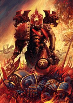 warhammer 40k artwork chaos gods - Google Search