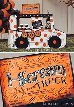 "Loralee Lewis Halloween Drive-In Movie Night, We had an ""I-Scream Truck"" filled with ""san-Witches"" for all the kiddos!  www.LoraleeLewis.com"