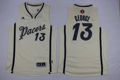 Indiana Pacers #13 paul george white 2015-2016 Christmas Day Jersey