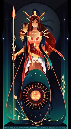 Hathor ~ Egyptian Gods by Yliade on DeviantArt Athena ~ Greek Gods by Yliade Hathor ~ Egyptian Gods by Yliade on DeviantArt Greek Mythology Gods, Greek Gods And Goddesses, Roman Mythology, Egyptian Mythology, Egyptian Goddess, Fantasy Kunst, Fantasy Art, Greek Goddess Art, Moon Goddess
