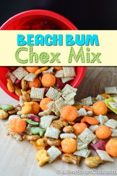 The perfect Beach or Shark Week Snack! Try this Easy Beach Bum Chex Mix #recipe