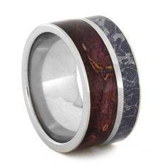 Mokume Wood Palladium Ring