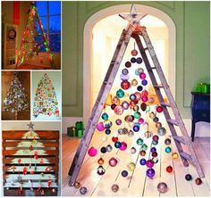Are you bored of decorating your Christmas tree every year in the same way? Forget the usual green tree with Christmas balls and ornaments and be more creative with these ideas I discovered on Pint…