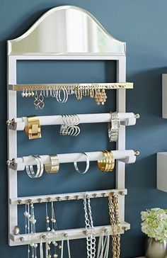 jewelry wall organizer  http://rstyle.me/n/u94vapdpe
