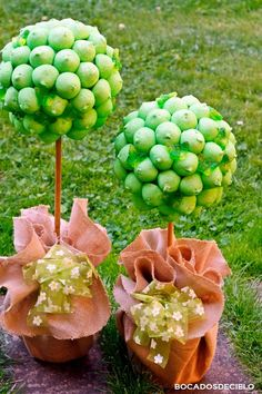 Bocadosdecielo: Arbolitos de chuches (verdes)