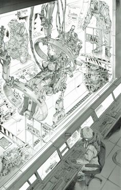 Cyberpunk Rpg, Cyberpunk Aesthetic, Arte Robot, Robot Concept Art, Futuristic Art, Environment Concept Art, Ghost In The Shell, Sci Fi Fantasy, Sci Fi Art