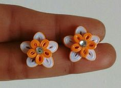 Orange color fancy quilling stud                                                                                                                                                                                 More
