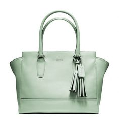 Coach Legacy Leather Medium Candace Carryall ($398) ❤ liked on Polyvore