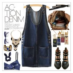 """""""Action denim"""" by teoecar ❤ liked on Polyvore featuring Cole Haan, Jeffrey Campbell, Marc by Marc Jacobs, Marc Jacobs, Topshop and denim"""