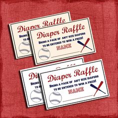 Printable Baseball Baby Shower Diaper Raffle Tickets- one idea for a game. especially for the guys. we could do one raffle for guys and one for girls Source by laree Baby Shower Diapers, Baby Shower Games, Shower Party, Baby Shower Parties, Sports Baby, Diaper Raffle Tickets, Star Baby Showers, Baby Sprinkle, Baby Shower Invitations