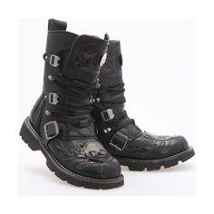 Designer Clothes, Shoes & Bags for Women Skull Shoes, Men's Shoes, Shoe Boots, Dress Shoes, Black Leather Shoes, Leather Boots, Real Leather, Black Shoes, Lolita Fashion
