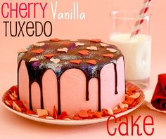 Cherry Vanilla Tuxedo Cake