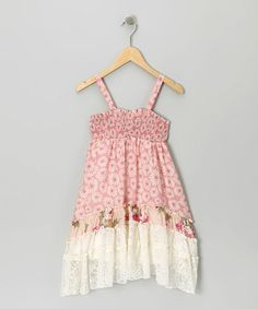 Take a look at this Pink Smocked Dress by Truly Me on #zulily today!