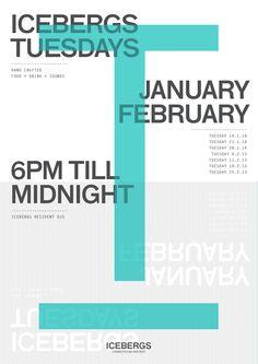 M35 | Icebergs | Poster | Graphic Design | Tuesdays | Typography
