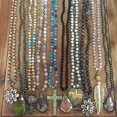 Beaded, one of a kind boho, style necklaces. Email lisajilljewelry@gmail.com to purchase wholsale or retail