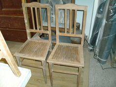 Barniz deteriorado, carcoma, piezas desencoladas... A pesar de todo ello, ¡fijaos lo que han conseguido con estas sillas!