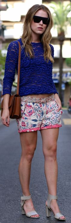 Isabel Marant Multi Floral Embroidery Shorts by Annabel Rosendahl