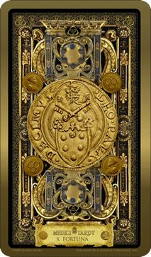 Medici Tarot By Londa R. Marks, at , at WorldOfTarot.com Major Arcana Cards, Tarot Major Arcana, Tarot Card Decks, Tarot Cards, House Of Cards, Deck Of Cards, Le Tarot, Wiccan Spells, Wheel Of Fortune