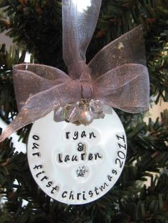 """Looking for the perfect """"Our First Christmas"""" ornament."""