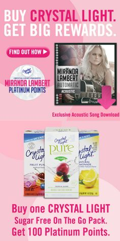 WOO HOO! I just earned a FREE  Platinum CD just for buying Crystal Light - you can too!  http://freebies4mom.com/platinumpoints <--SIGN-UP and use promo code mirandafm to start with 30 points #CrystalLightWM #ad (ends Dec. 31)