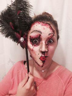 My own flesh mask for Halloween #halloween #fleshmask #gory #fxmakeup